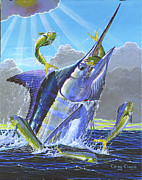 Blue Marlin Photo Metal Prints - Catch em up Metal Print by Carey Chen