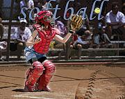 Baseball Digital Art Posters - Catch It Poster by Kelley King