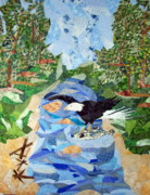 Creek Tapestries - Textiles Prints - Catch of the Day Print by Charlene White