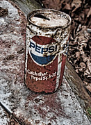 Pepsi Can Prints - Catch That Pepsi Spirit Print by Kristie  Bonnewell