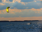 Kite Boarding Framed Prints - Catch the Wind Framed Print by Rrrose Pix