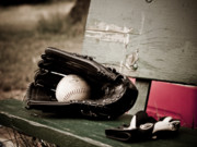 Glove Ball Photos - Catcher by Valerie Morrison
