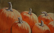 Pumpkins Paintings - Catching Some Rays by Linda Eades Blackburn