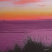 Cape Cod Pastels Prints - Catching the Mood at Cape Cod Bay Print by Harvey Rogosin
