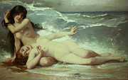 Unclothed Paintings - Catching waves  by Paul Albert Laurens