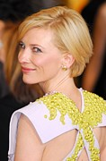 Diamond Earrings Framed Prints - Cate Blanchett At Arrivals For The 83rd Framed Print by Everett