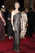 One-shoulder Prints - Cate Blanchett Wearing Armani Prive Print by Everett
