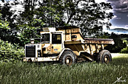 Truck Pyrography Prints - Caterpillar Truck Print by Shane York