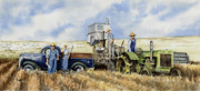 Harvest Paintings - Catesby Cuttin 1938 by Sam Sidders