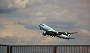 Retraction Prints - Cathay Pacific B-747-400 Print by Rene Triay Photography