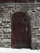 Barn Door Photo Prints - Cathedral Barn Door Print by John Stephens