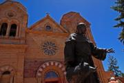 Assisi Church Photos - Cathedral Basilica in Santa Fe by Susanne Van Hulst