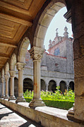 Religious Photo Framed Prints - Cathedral Cloister Framed Print by Carlos Caetano