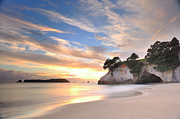 Edge Prints - Cathedral Cove Print by Photography By Anthony Ko