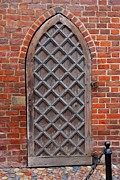 Cobble Stones Posters - Cathedral Door in Gdansk Poster by Sophie Vigneault