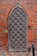 Cathedral Door In Gdansk Print by Sophie Vigneault