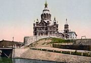 Helsinki Finland Prints - Cathedral in Helsinki Finland - ca 1900 Print by International  Images