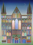 Texturing Framed Prints - Cathedral Framed Print by Jennifer Baird