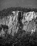 Climbing - Cathedral Ledge-The Prow III BW by Frank LaFerriere