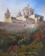 Shrouded Paintings - Cathedral Mdina by Raymond Frans