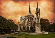 Paris Digital Art Prints - Cathedral Print by Mick Burkey