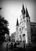 St Louis Cathedral Framed Prints - Cathedral Morning 2 Framed Print by Perry Webster