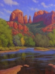 Sedona Painting Prints - Cathedral Morning Print by Cody DeLong