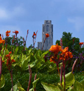 Phipps Conservatory Prints - Cathedral Of Learning Print by Joan Powell