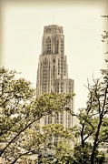 Cathedral Of Learning Prints - Cathedral of Learning Pittsburgh Print by Juanita L Ruffner