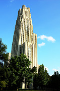 University Of Pittsburgh Framed Prints - Cathedral of Learning Framed Print by Thomas R Fletcher