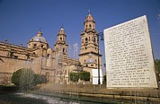 Religions Prints - Cathedral Of Morelia, Mexico Print by Gina Martin