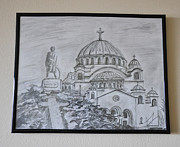 Sava Framed Prints - Cathedral of Saint Sava Framed Print by Dejan Jovanovic