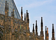 Prague Towers Prints - Cathedral of SS Vitus - Prague Castle Hradcany - Prague Print by Christine Till