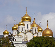 Annunciation Prints - Cathedral of the Annunciation in Moscow Print by Evgeny Prokofyev