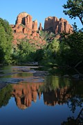  Cathedral Rock Prints - Cathedral Reflections Print by Jimmy Fox