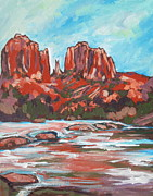 Sedona Painting Prints - Cathedral Rock 2 Print by Sandy Tracey