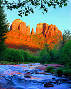 Oak Creek Metal Prints - Cathedral Rock Metal Print by Frank Houck