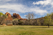Cathedral Rock Photo Metal Prints - Cathedral Rock from the Park Metal Print by Darcy Michaelchuk
