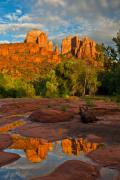  Cathedral Rock Prints - Cathedral Rock Reflection Print by Guy Schmickle