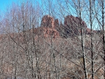 Rock Pyrography Acrylic Prints - Cathedral Rock Screen Acrylic Print by Gene Garrison