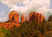  Cathedral Rock Prints - Cathedral Rock Sunset Print by Nadine and Bob Johnston