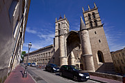 Montpellier Prints - Cathedral Saint Pierre at Montpellier Print by Evgeny Prokofyev