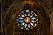 Round Digital Art Framed Prints - Cathedral Window Framed Print by Adrian Evans