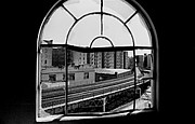 Famous Baseball Pictures Art - Cathedral Window-Original Yankee Stadium by Ross Lewis