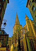 Religious Prints Photos - Cathedrale Saint Vincent by Elf Evans
