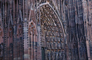 Catherdral Prints - Catherdral In Strasbourg Germany Print by Bob Christopher