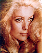Story-hairstyles Prints - Catherine Deneuve Print by Everett