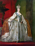 Catherine The Great Framed Prints - Catherine Ii Of Russia Framed Print by Granger
