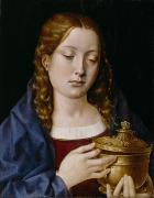 Mary Magdalene Metal Prints - Catherine of Aragon as the Magdalene Metal Print by Michiel Sittow