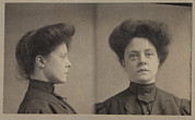 1900s Portraits Photos - Catherine Oneill, Police Mug Shot by Everett